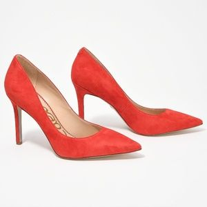 Sam Edelman Never Worn Pointed Toe Heels Red